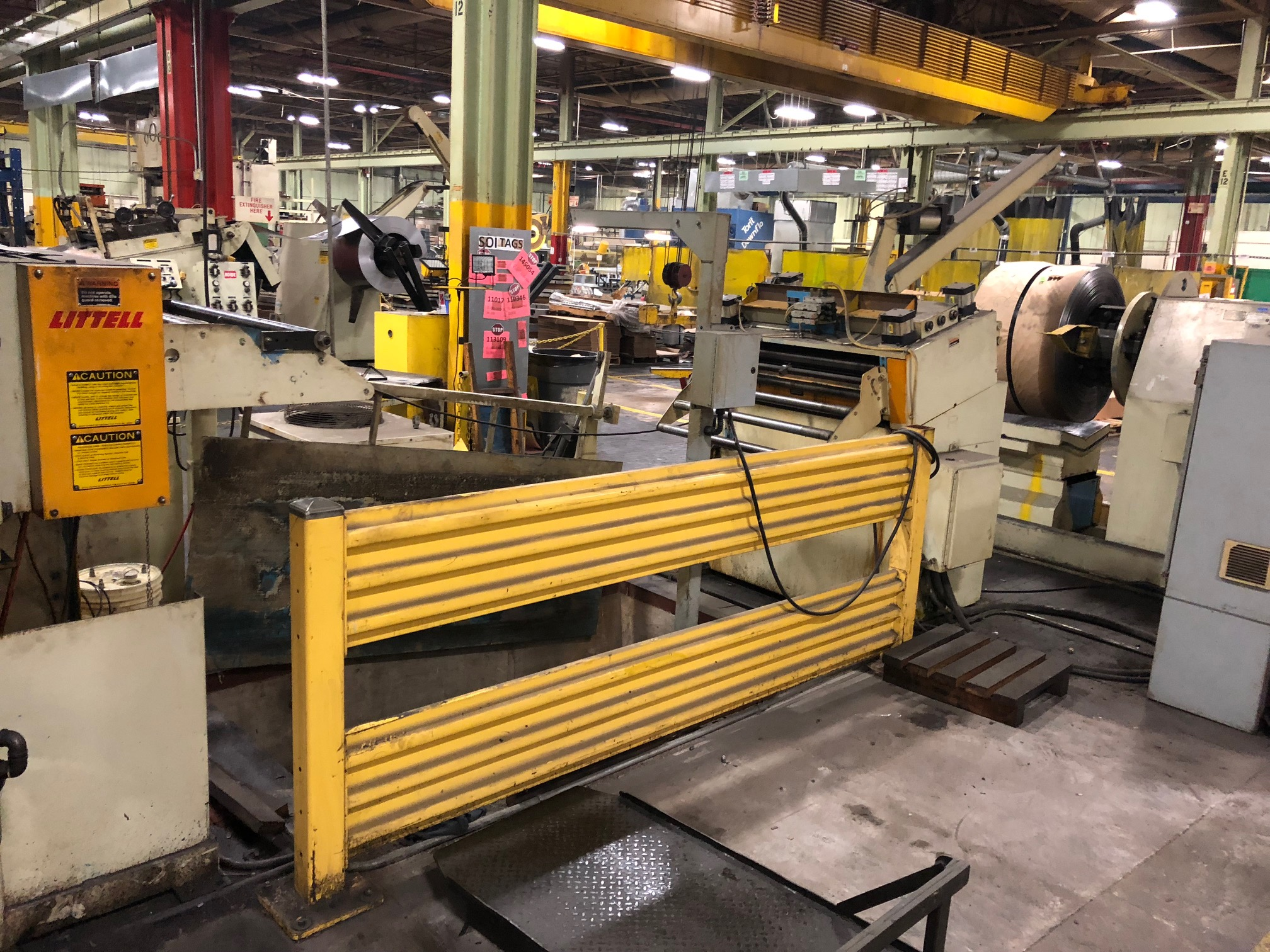 "15000 Lbs LITTELL Servo Feed Line, 36"" @ .090"" Material, New 1995"
