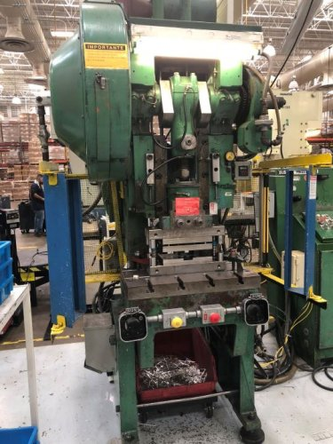 35 Ton Bliss C-35 OBI Flywheel Press