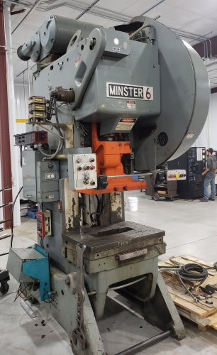 60 Ton MINSTER #6 Flywheel OBI Press