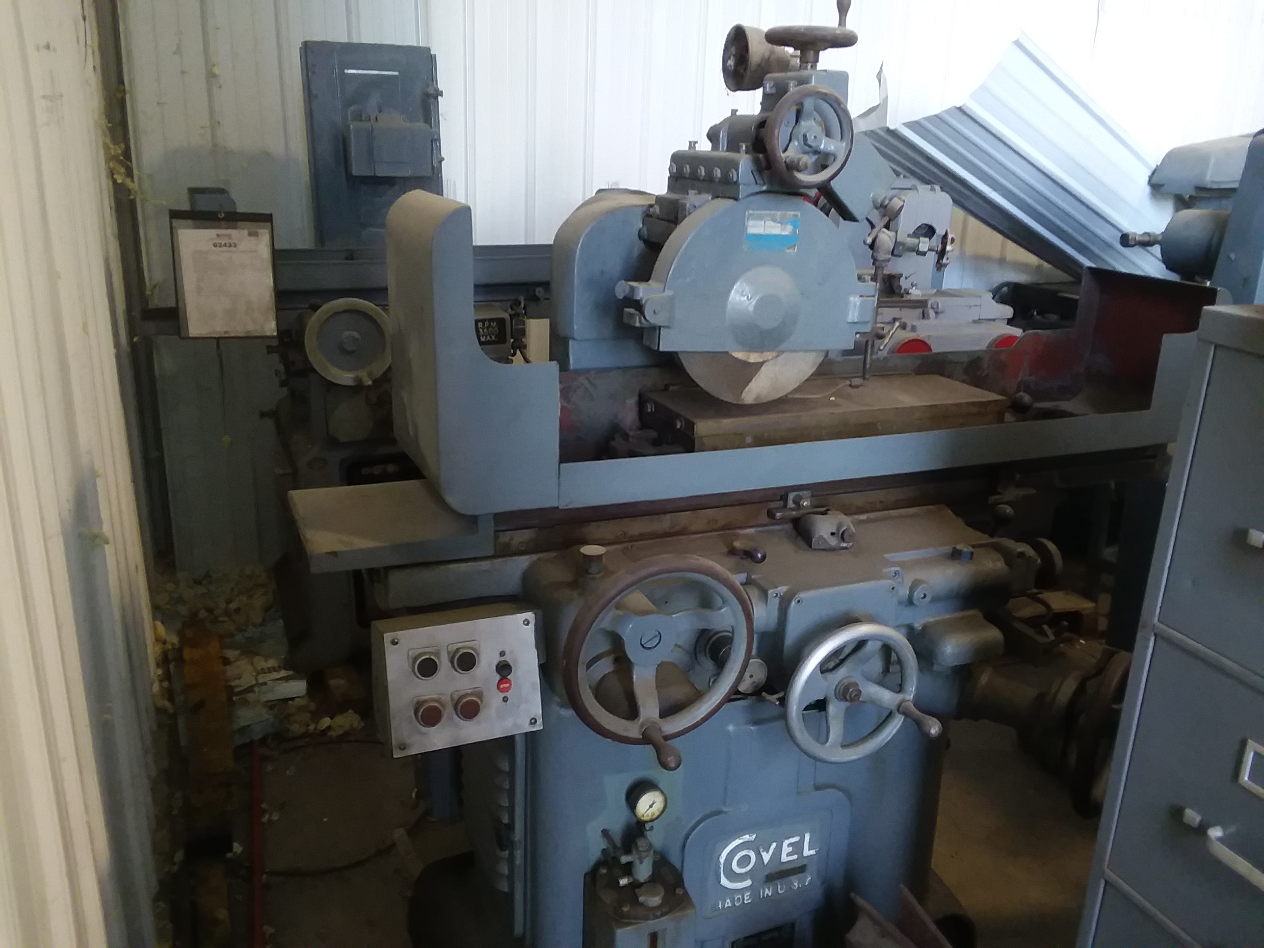 (1) PREOWNED COVEL 8 in  X 24 in  HYDRAULIC SURFACE GRINDER,<br>MODEL #: 35, S/N: 35-281, YEAR: 1953