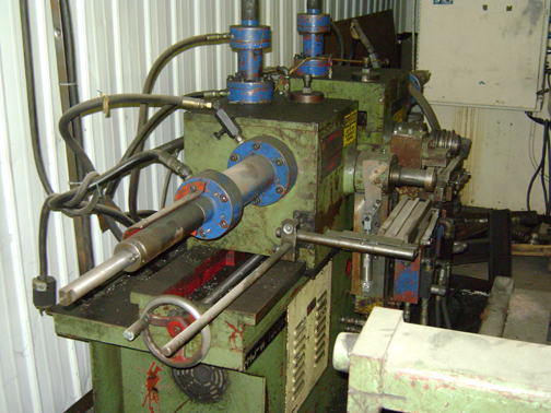 1 - PREOWNED HOU JYE AUTOMATIC HIGH SPEED TWIN HEAD <br>DOUBLE <br>END PIPE BENDER, MODEL #: HJ-W21800, S/N: 771227, YEAR: 1988