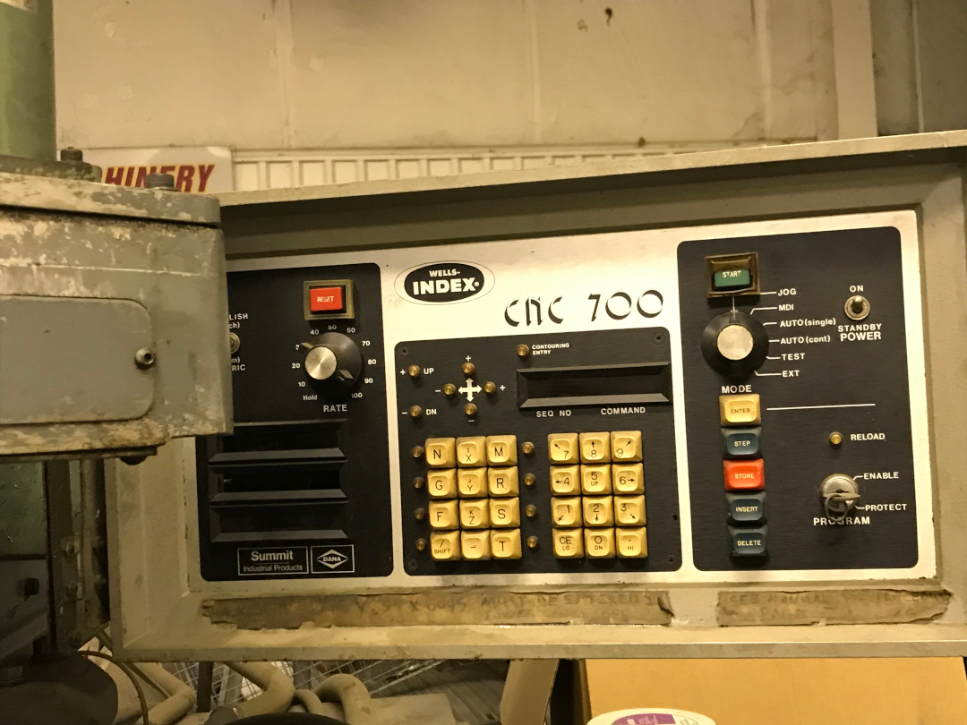 1 - PREOWNED WELLS INDEX CNC MILL, MODEL #: 700, S/N: 20888, <br>YEAR: 1983