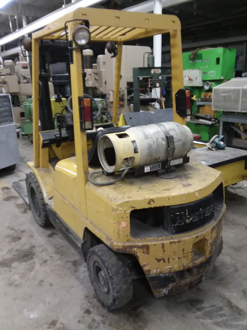 (1) PREOWNED HYSTER LP FORKLIFT WITH SIDE SHIFT HYDRO, <br>MODEL <br>H-50XM, VIN: H177B40784A, LIFTING CAPACITY 5150 LBS