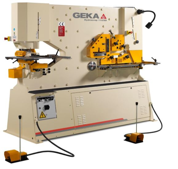 1 - NEW GEKA HYDRAULIC IRONWORKER WITH CNC X-Y POSITIONING <br>TABLE AND SEMI-PAXY, MODEL #: 110SD