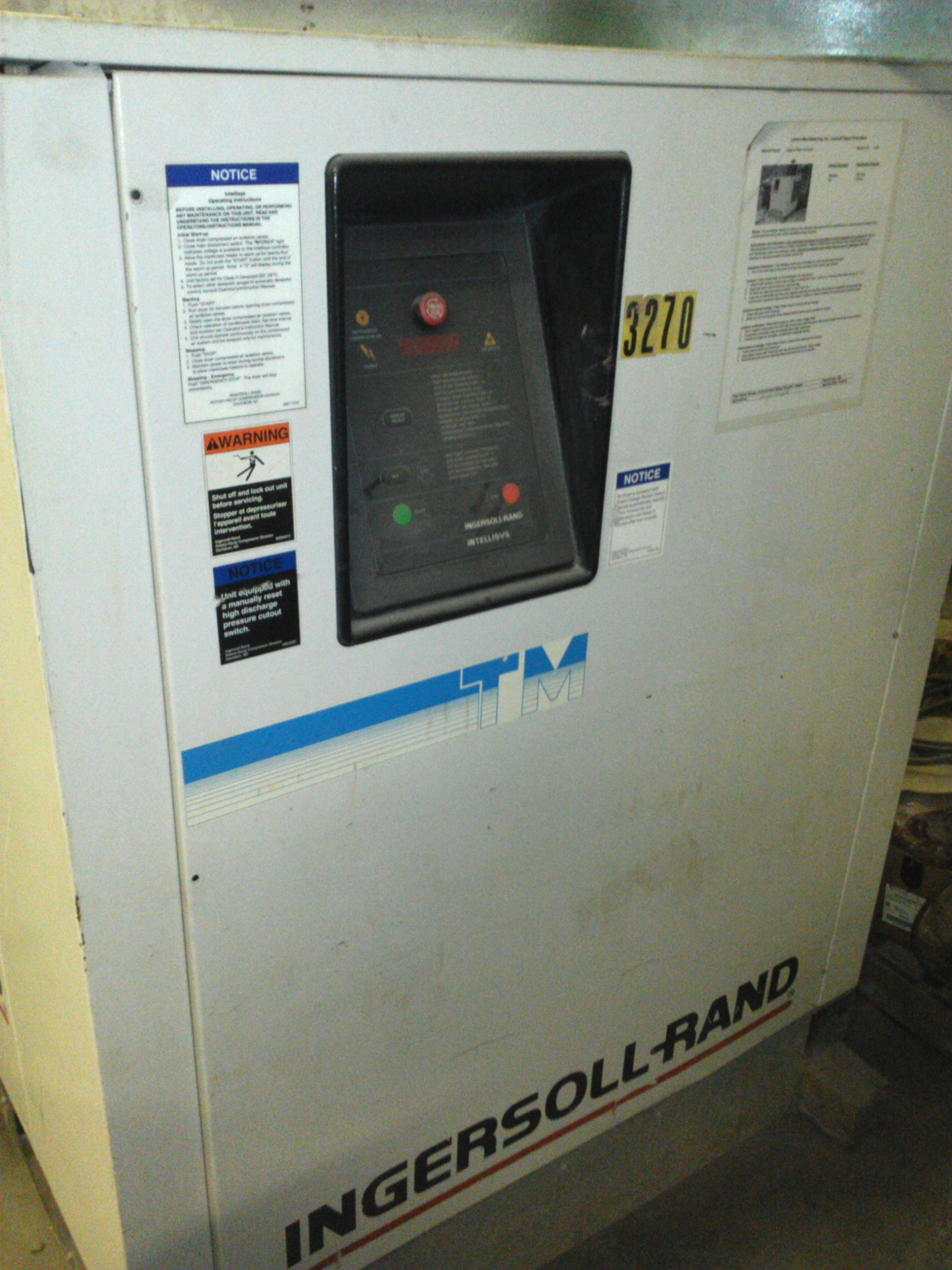 1 - PREOWNED INGERSOLL RAND THERMAL MASS REFRIGERATED AIR <br>DRYER, MODEL #: TM400, S/N: 944TM997, YEAR: 1994