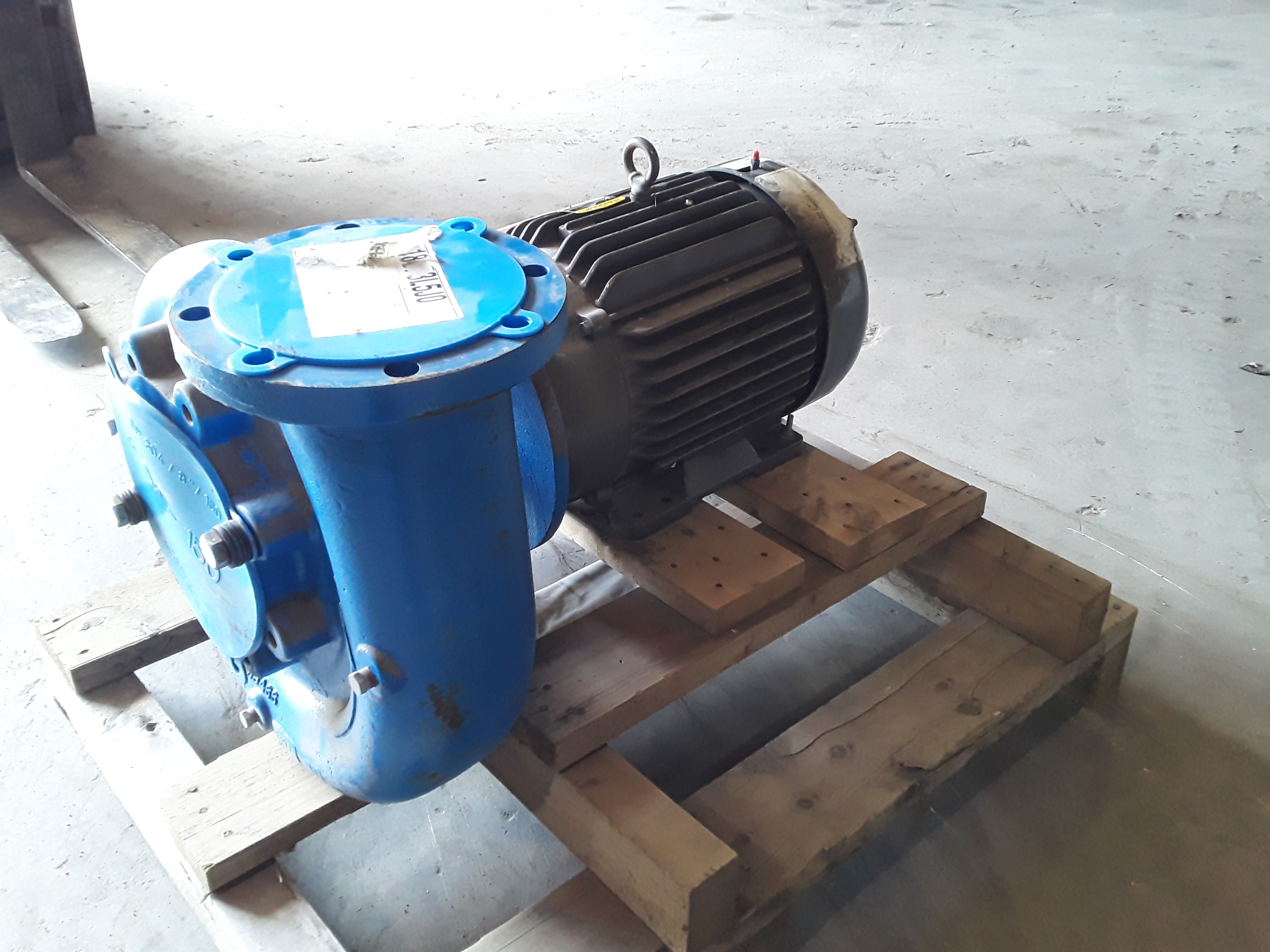 (1) PREOWNED GOULDS SINGLE END SUCTION WATER PUMP, M# 3656