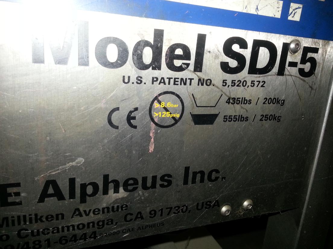 (1) PREOWNED COLD JET MINI BLAST DRY ICE BLASTING MACHINE, <br>MODEL #: SDI-5, S/N: 71426C776, YEAR: 2000
