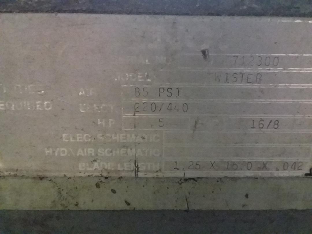 1 - PREOWNED HEMSAW HORIZONTAL BANDSAW, MODEL #: TWISTER, S/N: 712300, YEAR: 2000