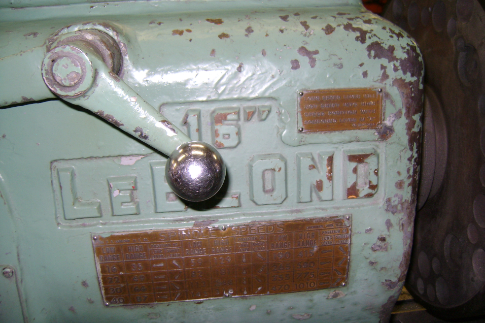 1 - PREOWNED LEBLOND REGAL ENGINE LATHE 16 in  x 80 in , <br>MODEL #: NE-16, S/N: NE6835, YEAR: 1952