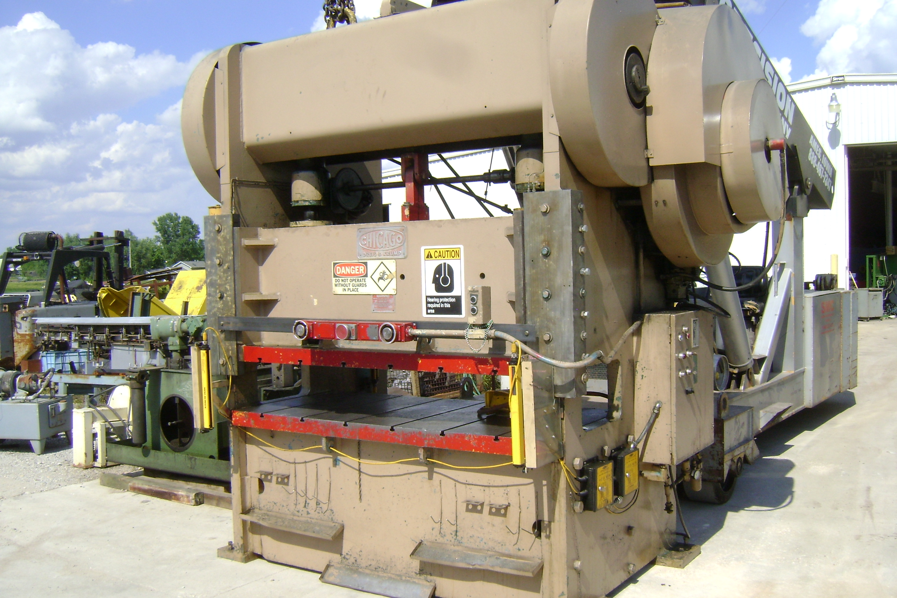 1 - PREOWNED CHICAGO DRIES & KRUMP 150 TON STRAIGHT SIDE <br>PRESS, MODEL #: SS-150-36-72, S/N: P9252, YEAR: 1967