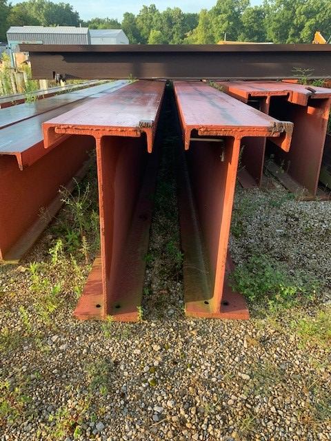 1 - PREOWNED STEEL I BEAMS, 24 in  HEIGHT, 11 in  FLAT, 1/2 in  WEBB, <br>15 in  CHANNEL