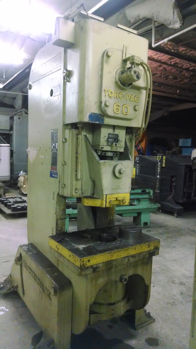 (1) PREOWNED CLEARING (US INDUSTRIES) 60 TON TORC PAC OBI <br>PRESS, SN 57-8872