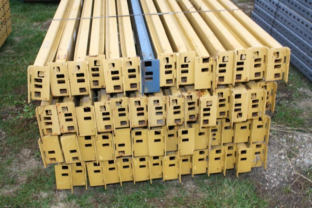 (56) PREOWNED PALLET RACKING SLOT STYLE (CROSS MEMBERS)