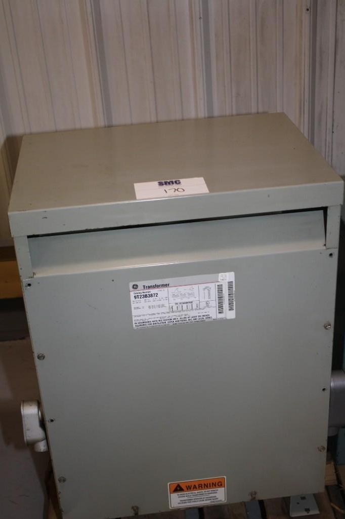 (1) PREOWNED GENERAL ELECTRIC 3 PHASE TRANSFORMER, 30 KVA