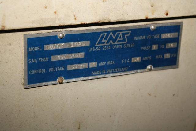 (1) PREOWNED LNS QUICKLOAD BAR FEADER, S/N 19803