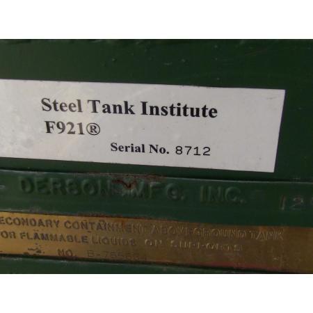 (1) PREOWNED DERSON STEEL TANK MODEL F921