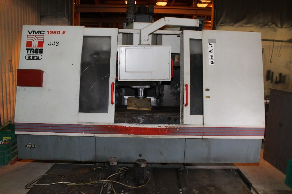 (1) PREOWNED TREE VERTICAL MACHINING CENTER,<br>MODEL #: VMC-1260E, S/N: 9-14-93-2066, YEAR: 1999