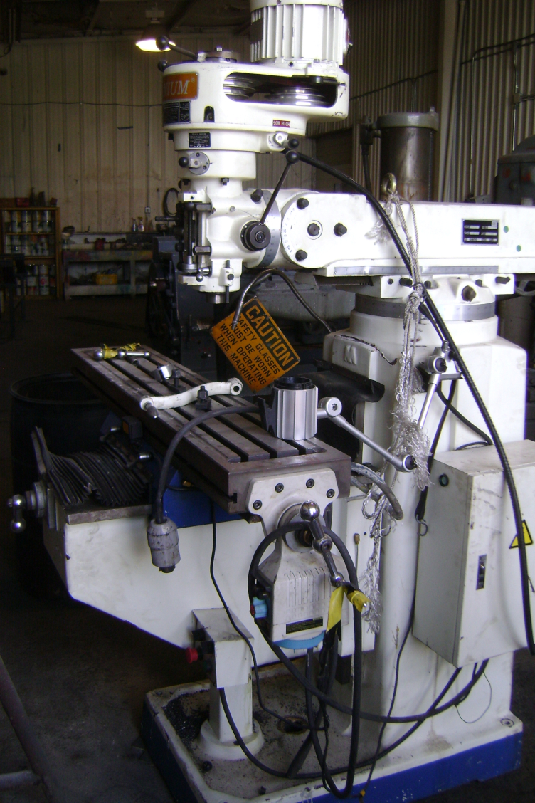 1 - PREOWNED TITANIUM VERTICAL MILL, MODEL #: TM-3S, <br>S/N: 122012, YEAR: 2012
