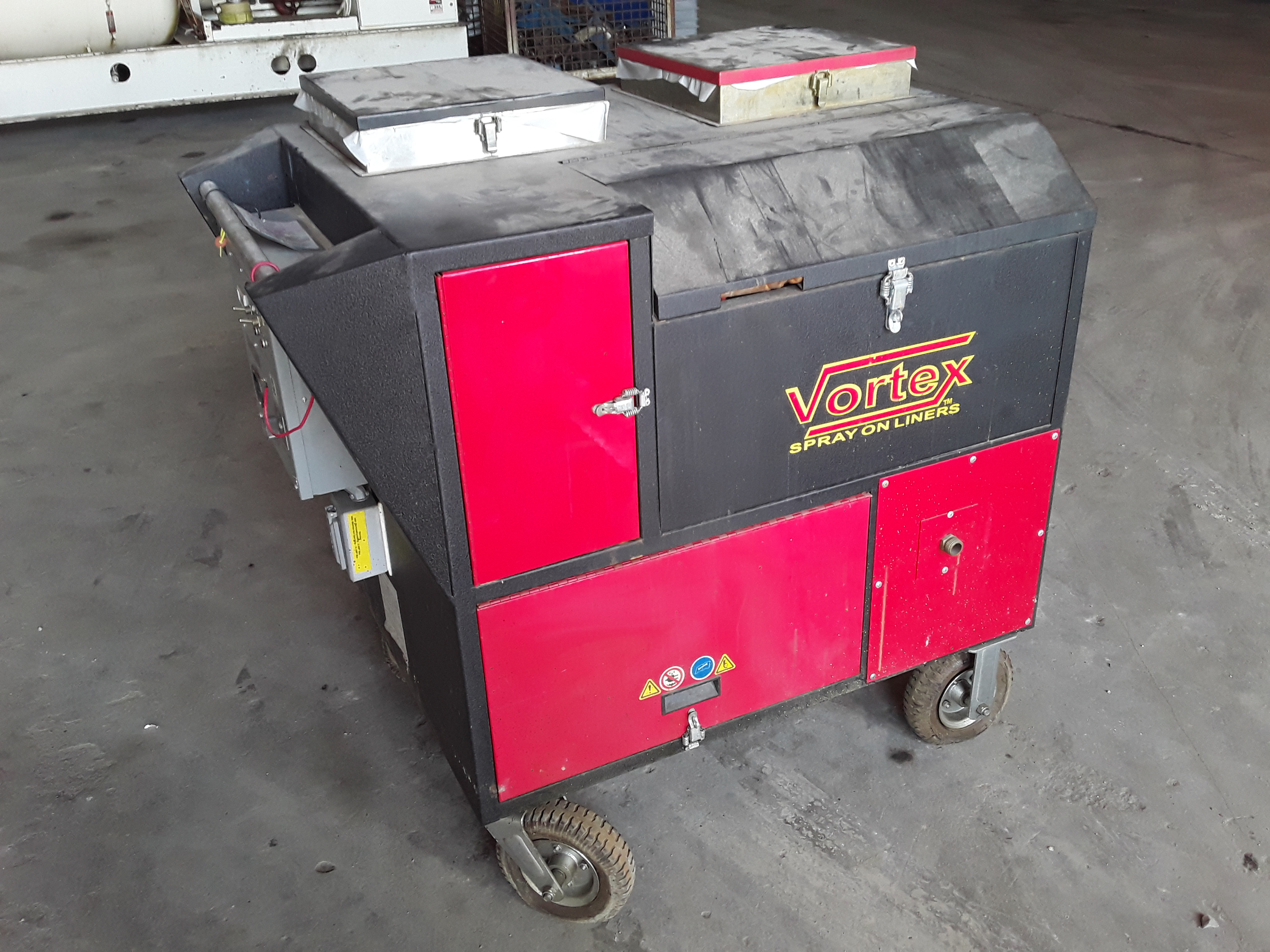 (1) PREOWNED PORTABLE VORTEX SPRAY ON BED LINER MACHINE, <br>MODEL KV-5006