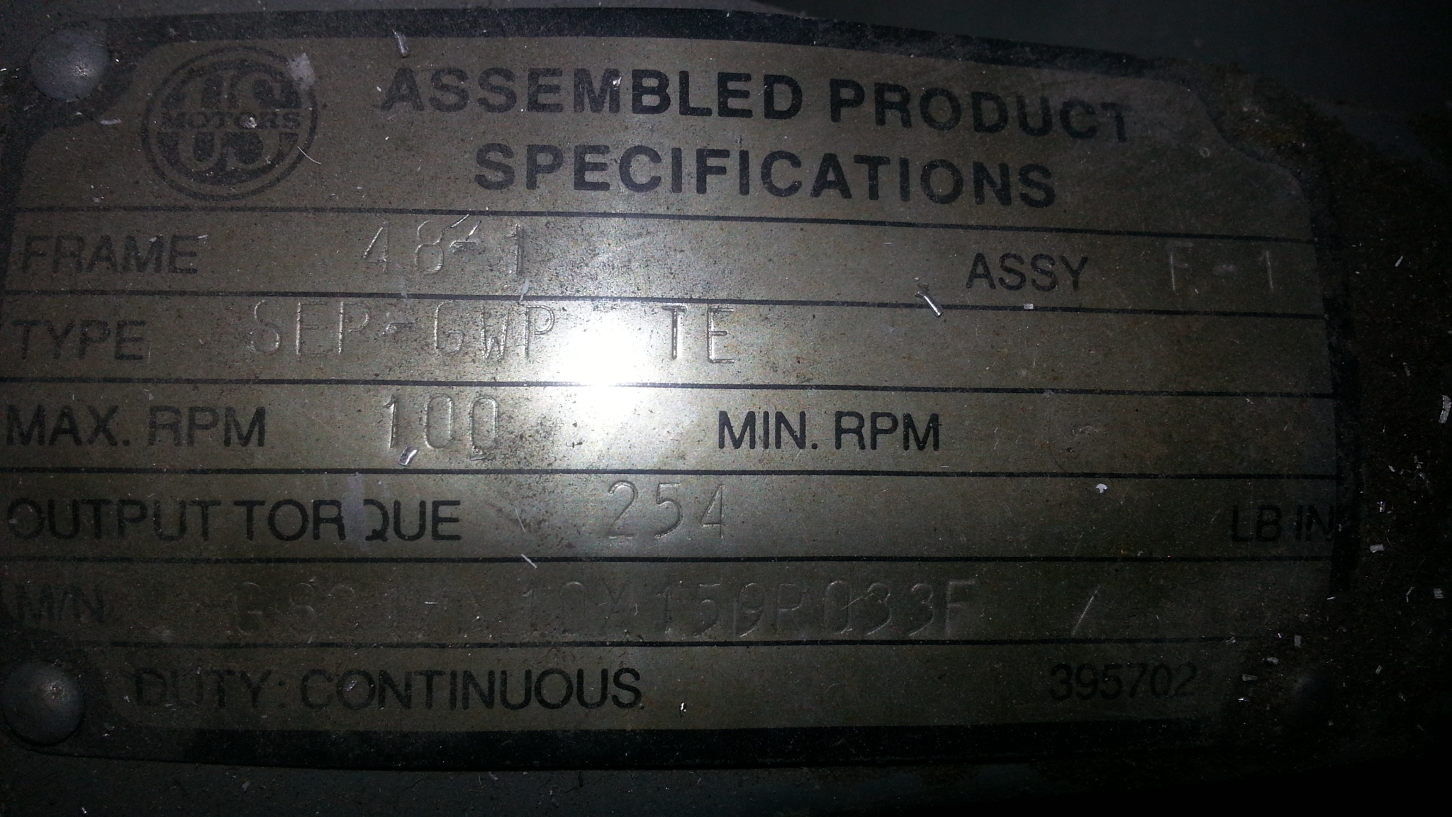(1) PREOWNED TRACK FEEDER