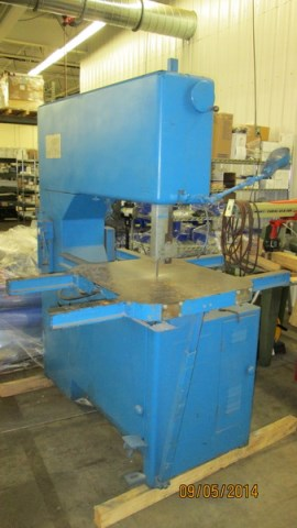 (1) PREOWNED GROB VERTICAL BAND SAW, S/N: 1201