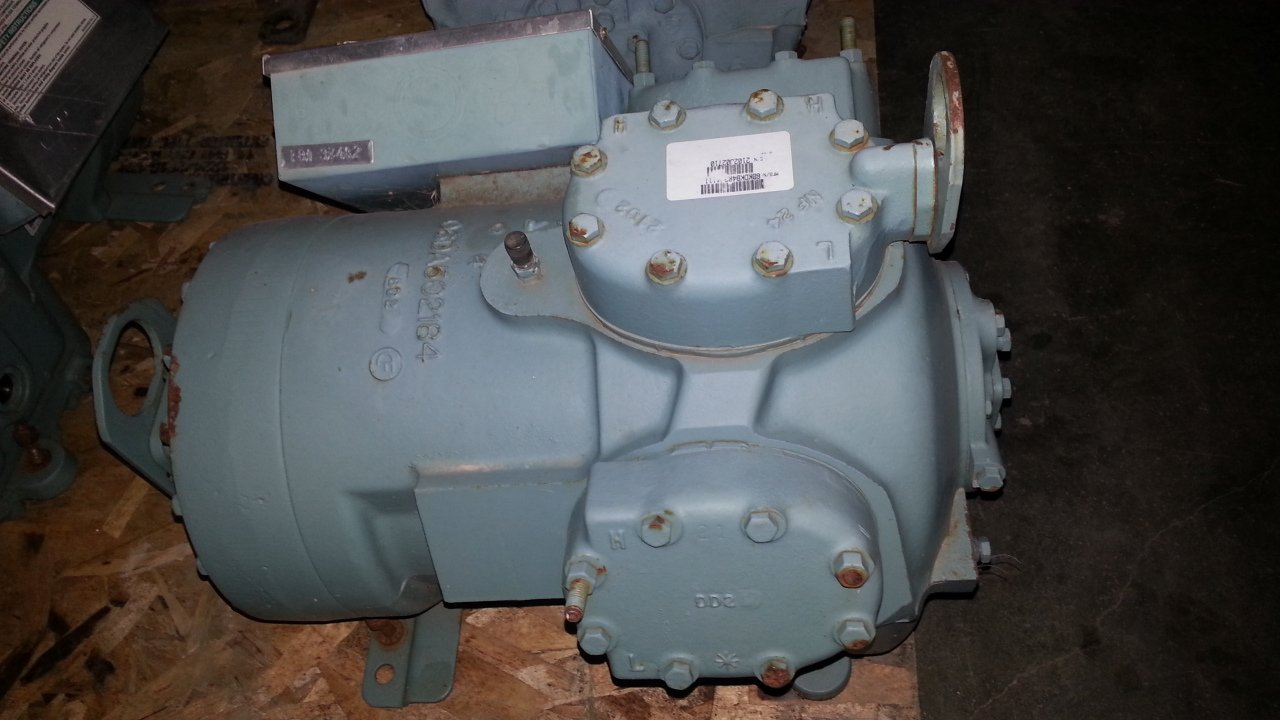 1 - PREOWNED CARLYLE SEMI-HERMETRIC RECIPROCATING <br>COMPRESSOR, MODEL #: 06DR228, S/N: 2102J02710