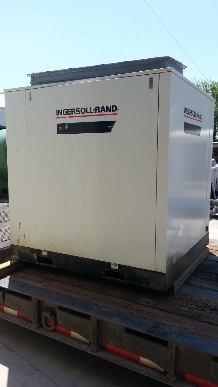 1 - PREOWNED INGERSOLL RAND AIR COMPRESSOR,<br>MODEL #: SSR-EP75, S/N: CK1468U98313