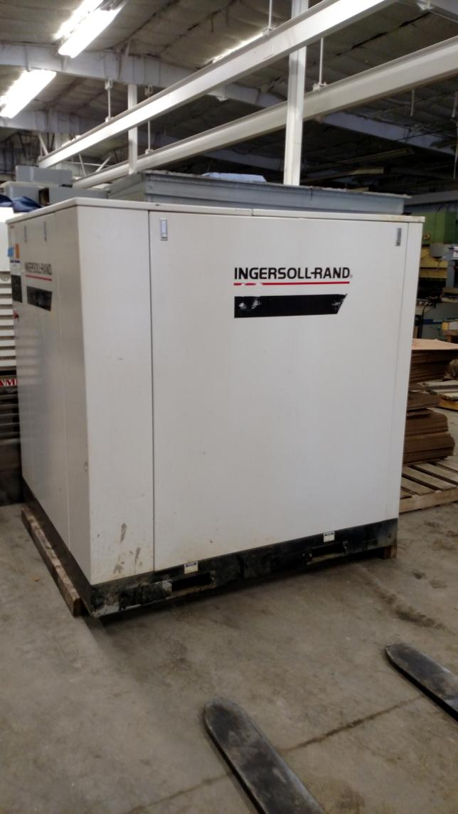 1 - PREOWNED INGERSOLL RAND AIR COMPRESSOR,<br>MODEL #: SSR-EP75, S/N: CK1468U98313