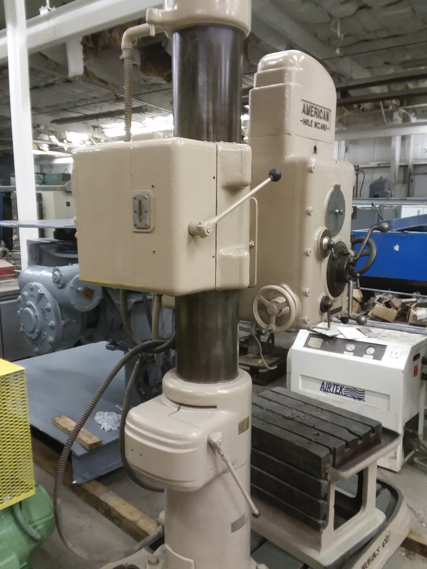 1 - PREOWNED AMERICAN TOOL WORKS RADIAL ARM DRILL, <br>MODEL: HOLEWIZARD