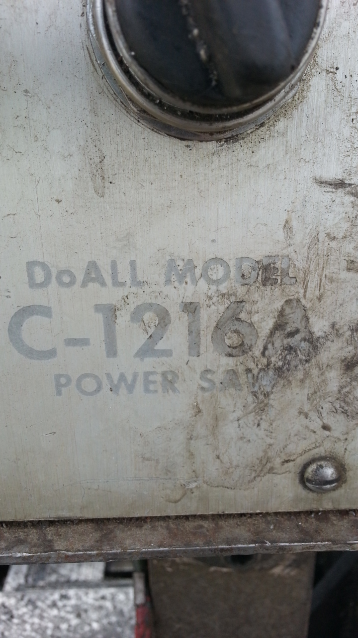 1 - PREOWNED DOALL AUTOMATIC HORIZONTAL BANDSAW, <br>MODEL #: C-1216A, S/N: 373-79371, YEAR: 1979