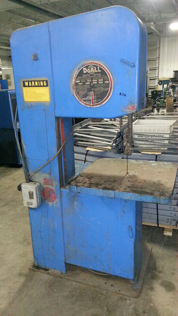 (1) PREOWNED DOALL VERTICAL BAND SAW, MODEL 2013-V, <br>S/N 439-83205, YEAR 1983
