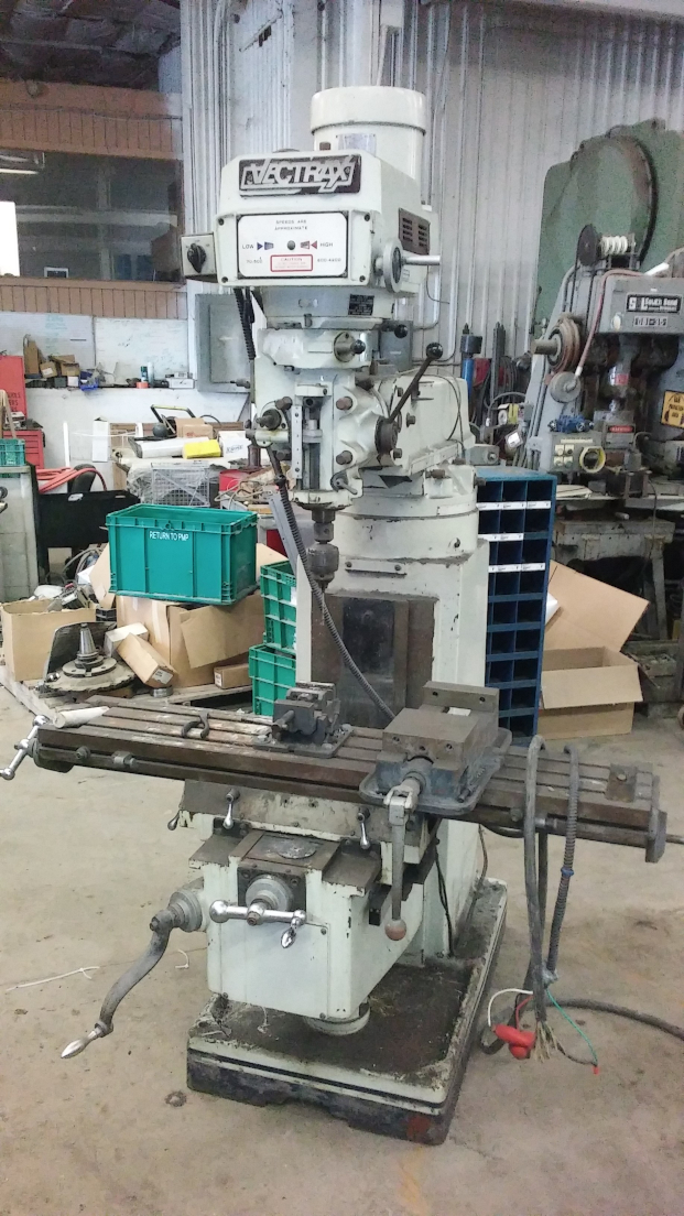 1 - PREOWNED VECTRAX VERTICAL MILLING MACHINE, <br>MODEL #: GS16V, S/N: 841014