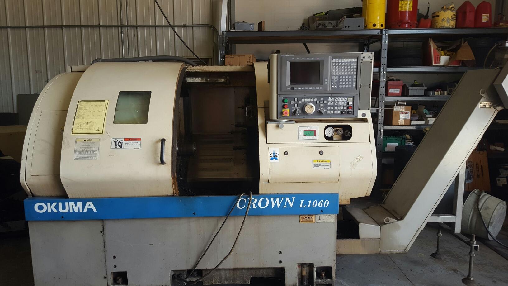 (1) PREOWNED OKUMA CROWN CNC LATHE, MODEL L1060, S/N 1709