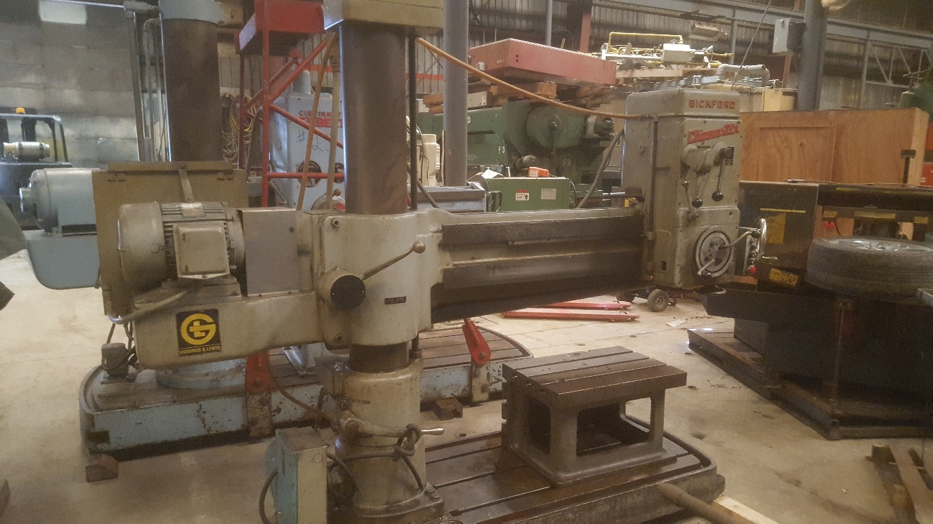 (1) PREOWNED GIDDINGS & LEWIS BICKFORD CHIPMASTER 4 ft X 9 in  <br>RADIAL DRILL