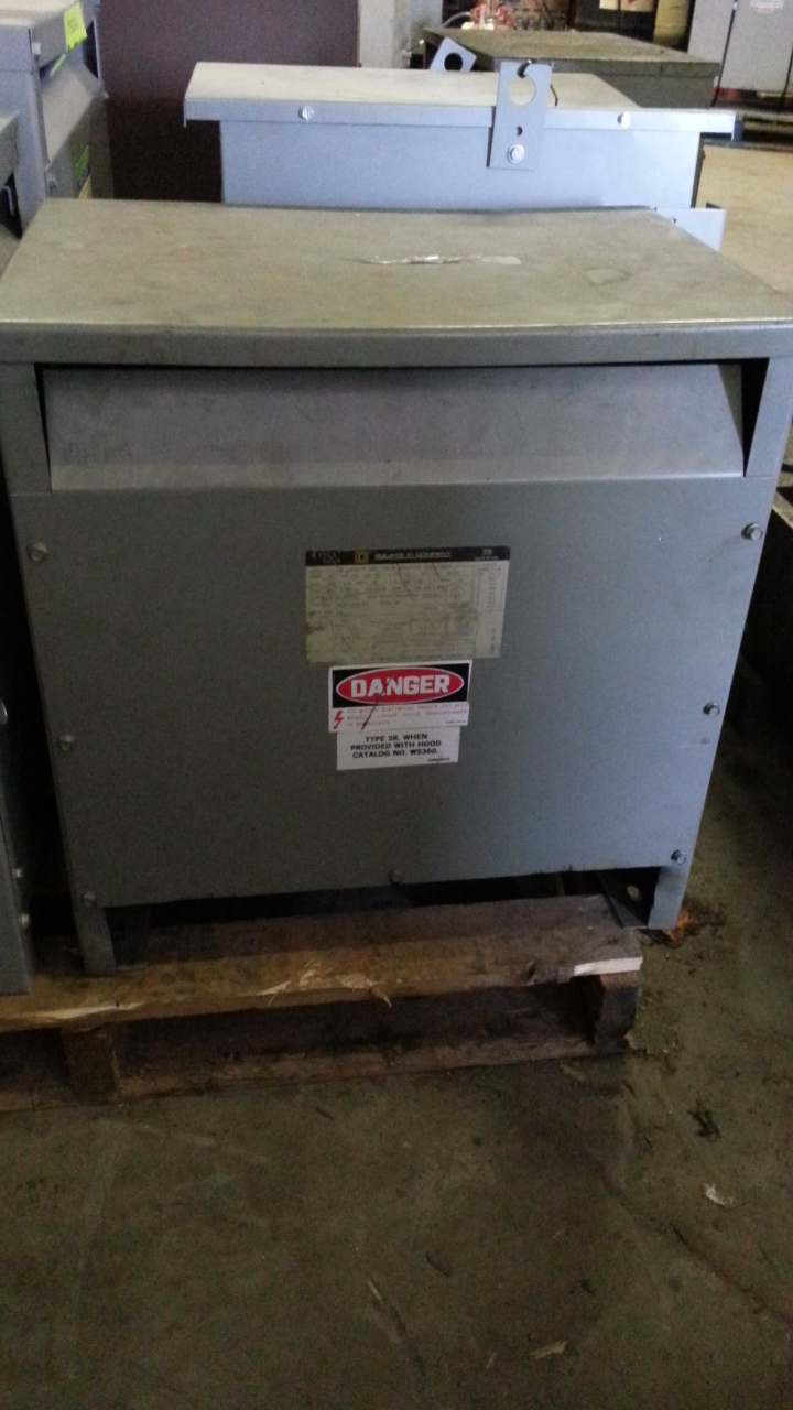 (1) PREOWNED SQUARE D 3PH TRANSFORMER, S/N 30T3H
