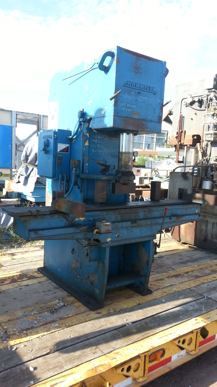 1 - PREOWNED HANNIFIN HYDRAULIC PRESS, <br>MODEL #: S-50-84-12-4-2-SP, S/N: T-3844, YEAR: 1965
