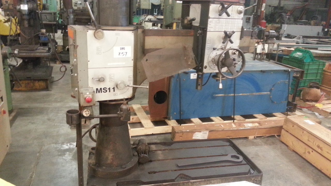 (1) PREOWNED CLAUSING RADIAL ARM DRILL, MODEL MS11