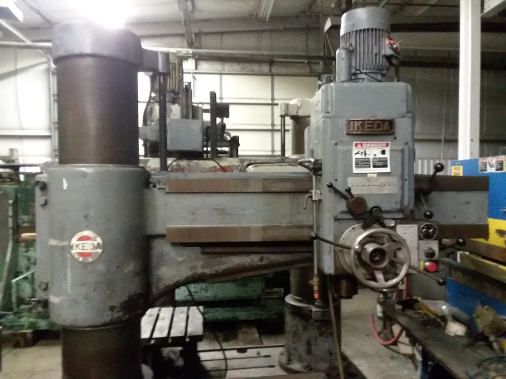 1 - PREOWNED IKEDA RADIAL ARM DRILL, MODEL #: RM-1375, <br>S/N: 78151, YEAR: 1978