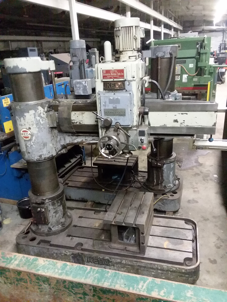 1 - PREOWNED IKEDA RADIAL ARM DRILL, MODEL #: RM-1575, <br>S/N: 81499, YEAR: 1982