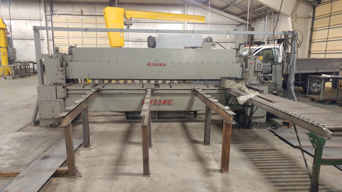 (1) PREOWNED WYSONG 1/2 in  X 12 ft MECHANICAL <br>SHEAR, MODEL 1250, <br>S/N P48-102