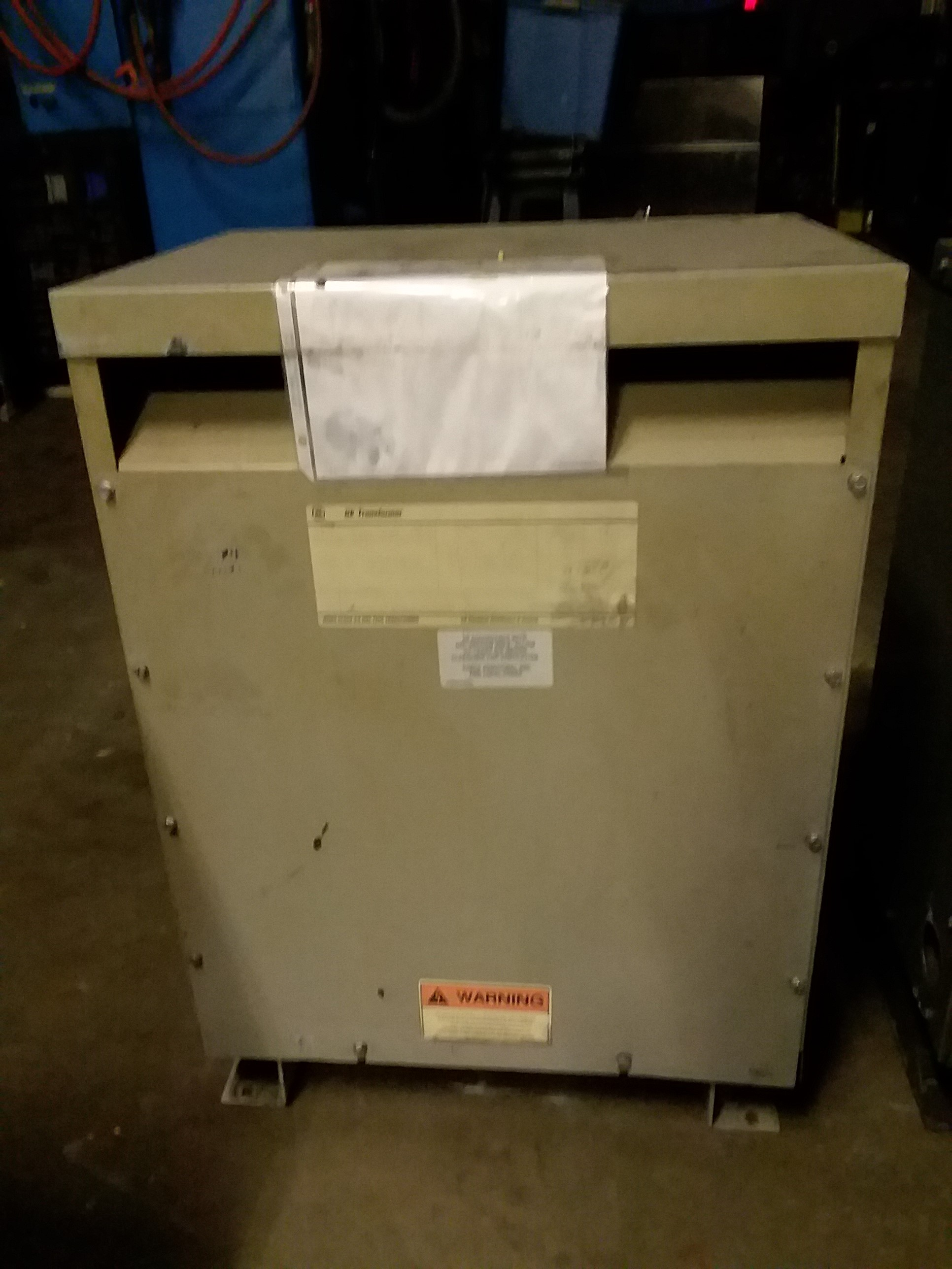 (1) PREOWNED GENERAL ELECTRIC 3 PHASE TRANSFORMER, 45 KVA