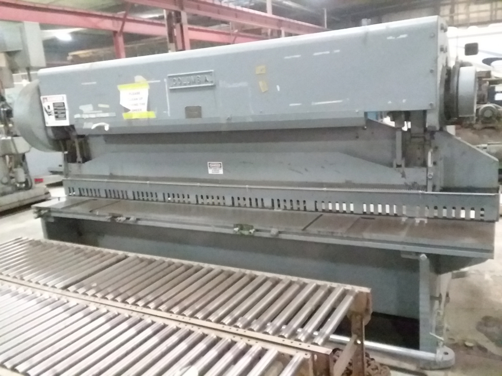 (1) PREOWNED COLUMBIA 3/16 in  X 10 ft MECHANICAL SHEAR, MODEL <br>4PSG-10, S/N W160-63
