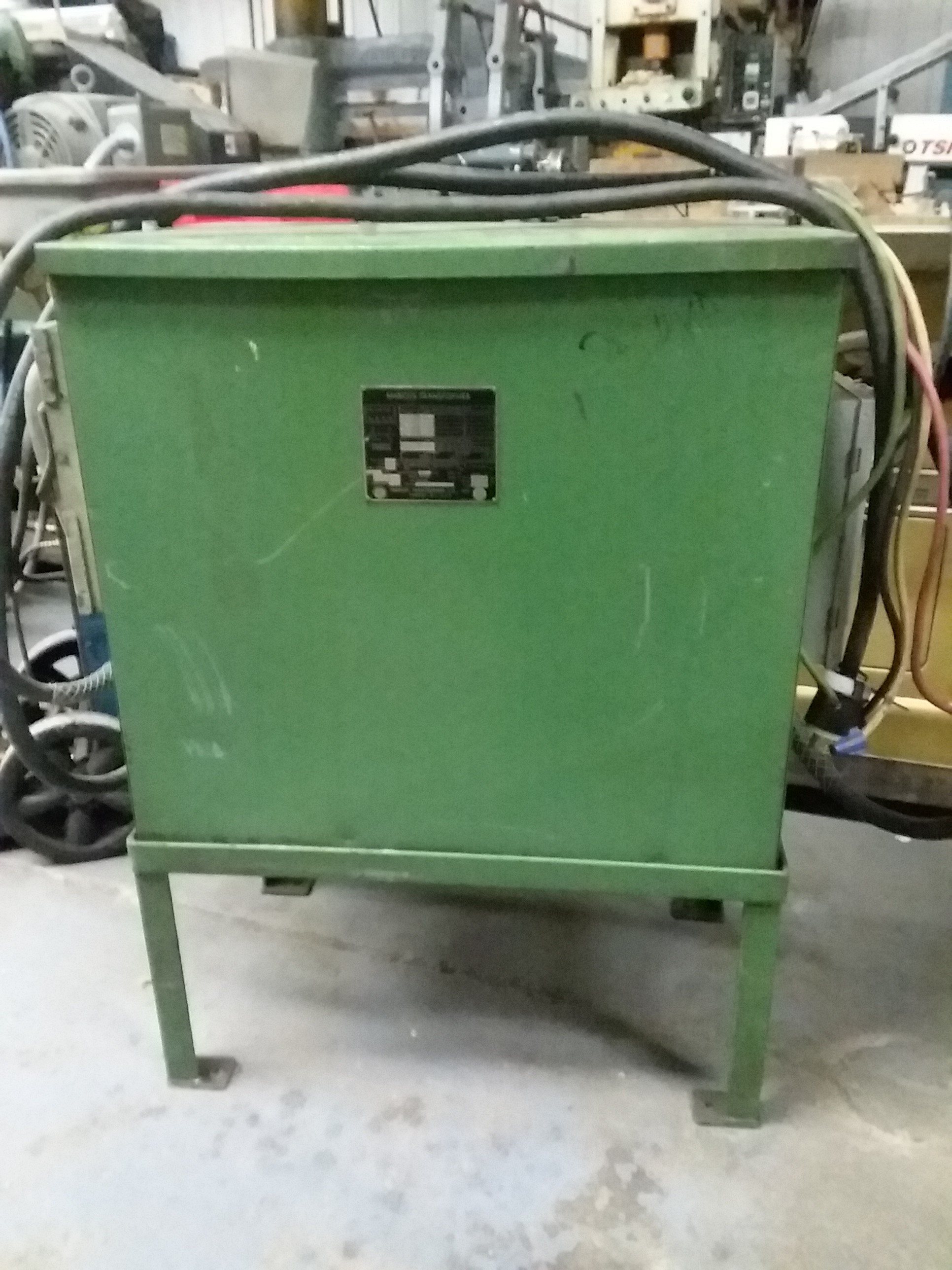 (1) PREOWNED MARCUS ELECTRIC 3 PHASE TRANSFORMER, 25 KVA