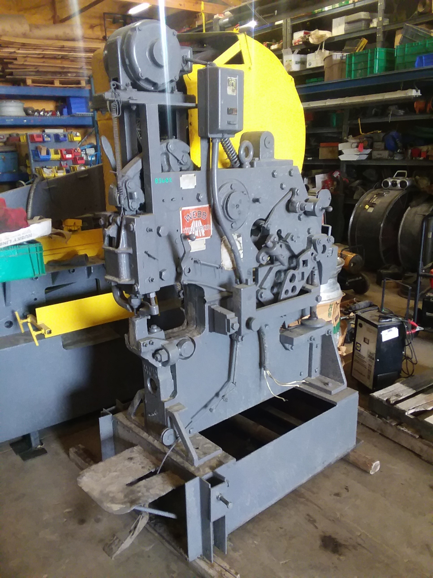 1 - PREOWNED WEBB MECHANICAL IRONWORKER, MODEL #: NO. 4, S/N: 55S34