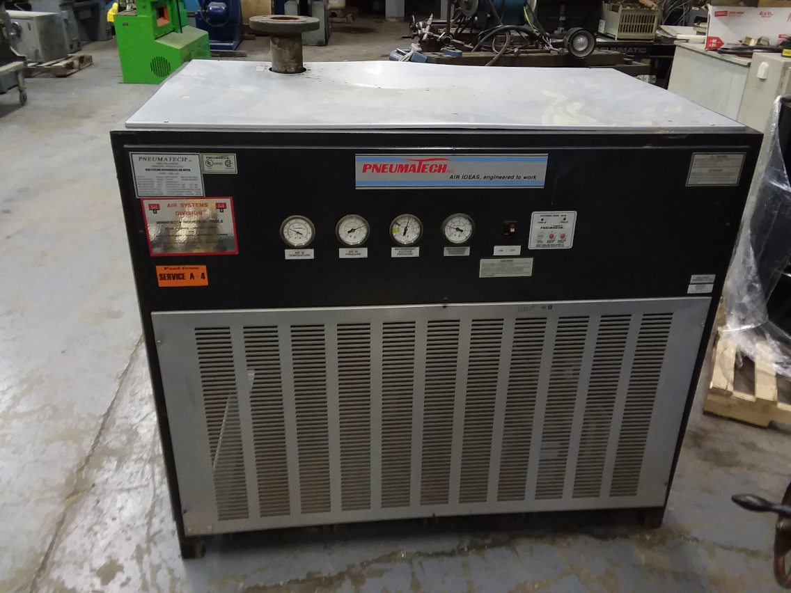 (1) PREOWNED PNEUMATECH NON-CYCLING REFRIGERATED AIR DRYER, <br>MODEL #: ADW-750, S/N: 9306-T114241-55114