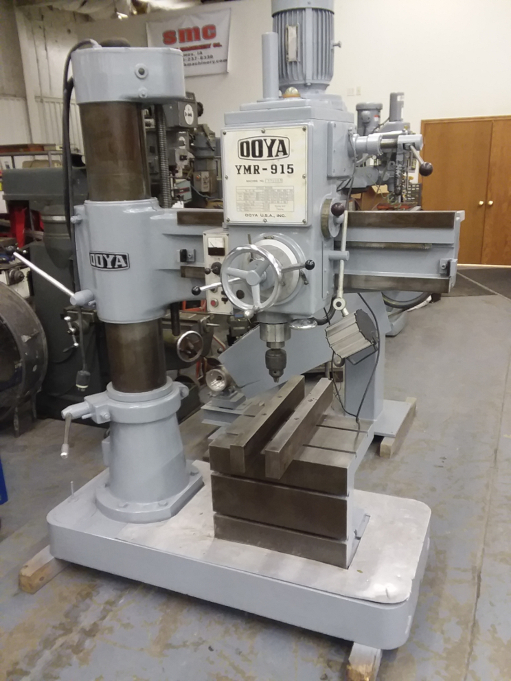 (1) PREOWNED OOYA RADIAL ARM DRILL, MODEL YMR-915