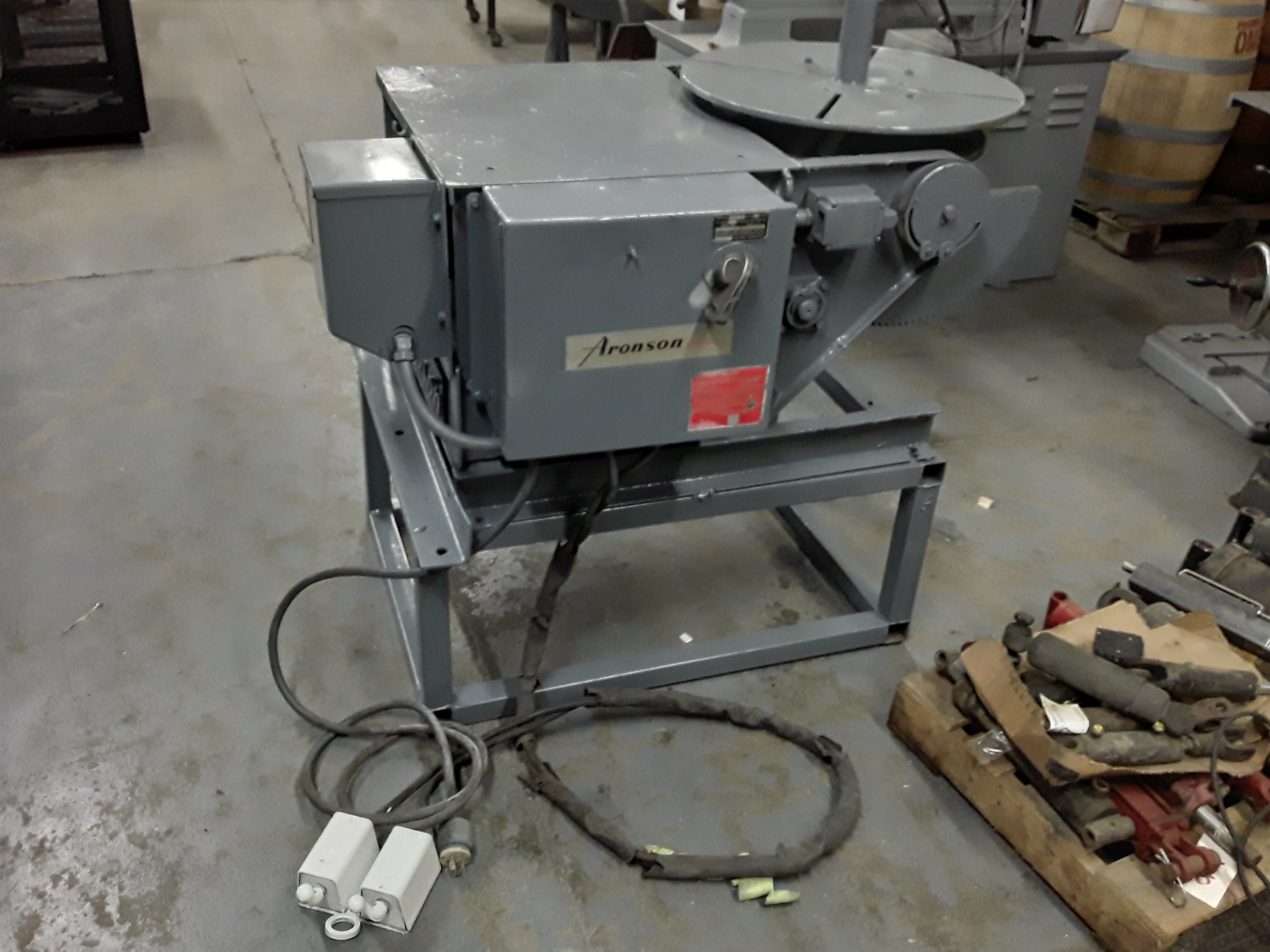(1) PREOWNED ARONSON WELDING POSITIONER, <br>MODEL#: HD10A-PTVR2, S/N: 75312