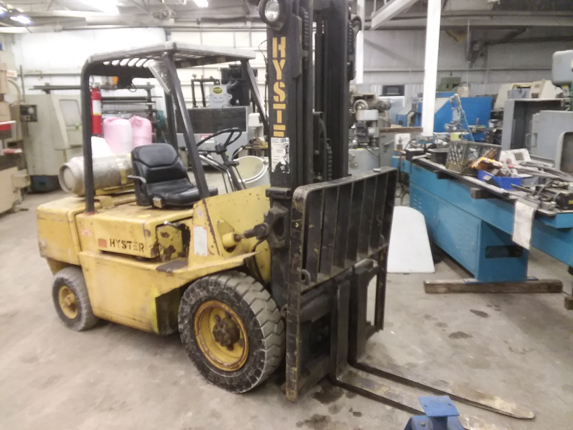 1 - PREOWNED HYSTER PROPANE FORKLIFT, MODEL #: H60XL,<br>S/N: 41778142666, YEAR: 1992