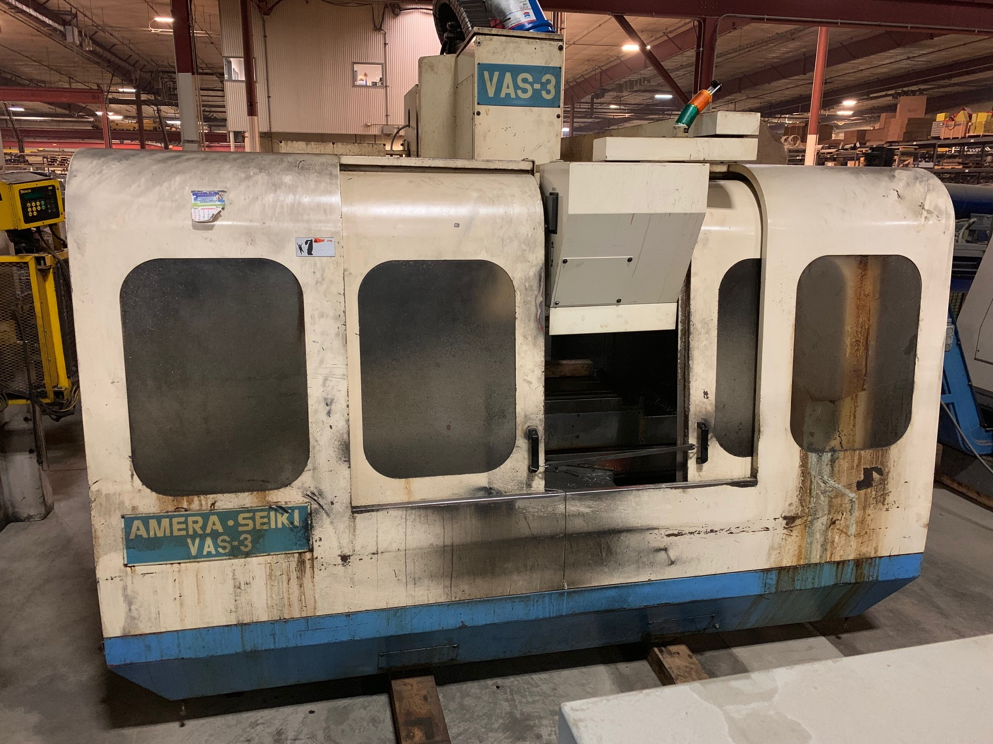 (1) PREOWNED AMERA SEIKI VERTICAL MACHINING CENTER, MODEL <br>VAS-3, S/N 9800061