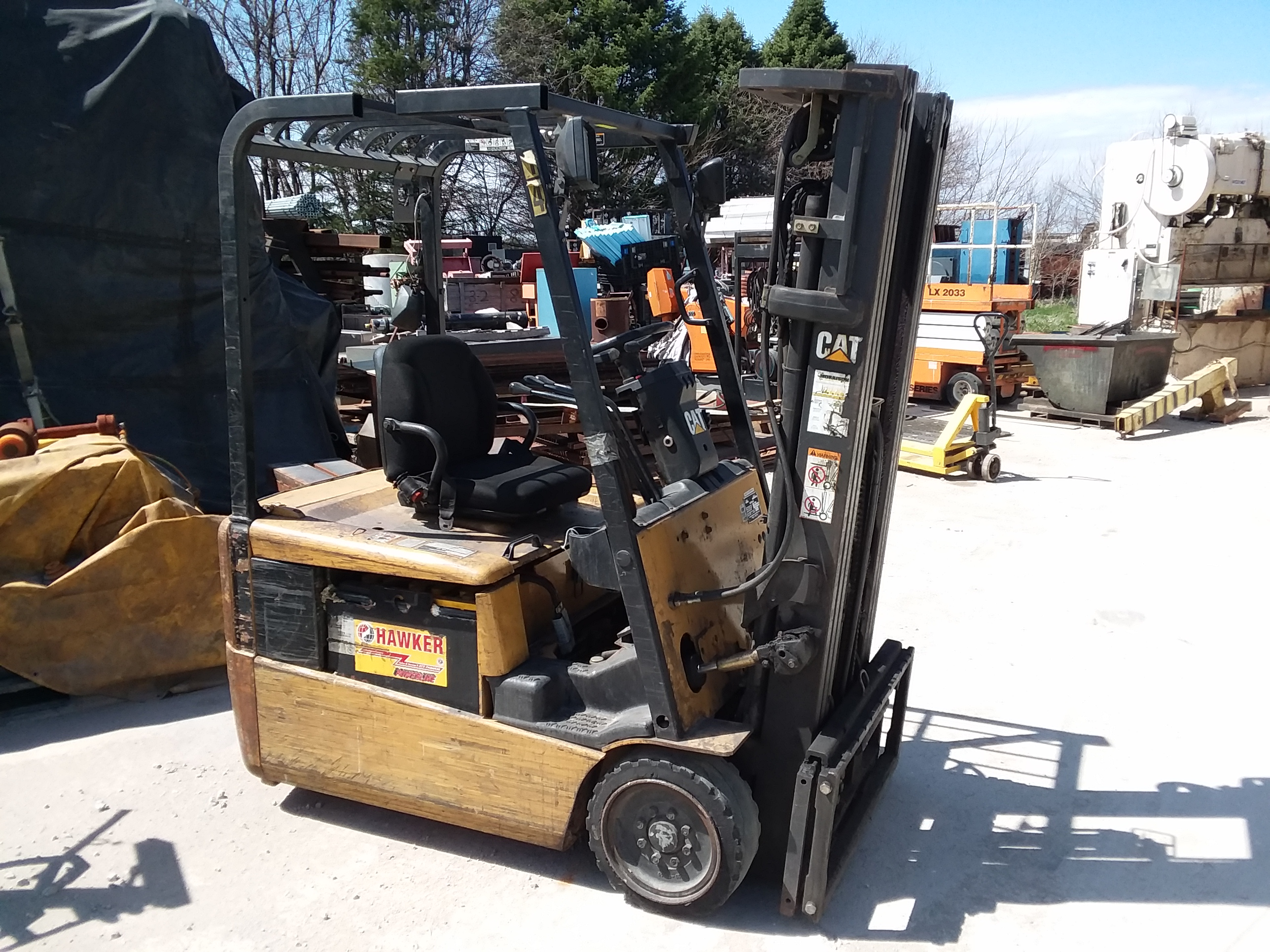 (1) PREOWNED CATERPILLAR ELECTRIC FORKLIFT, MODEL EP16KT<br>S/N ETB4B01445